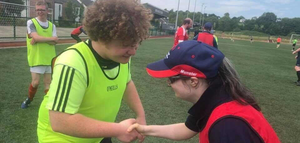 Sportsmanship shaking hands